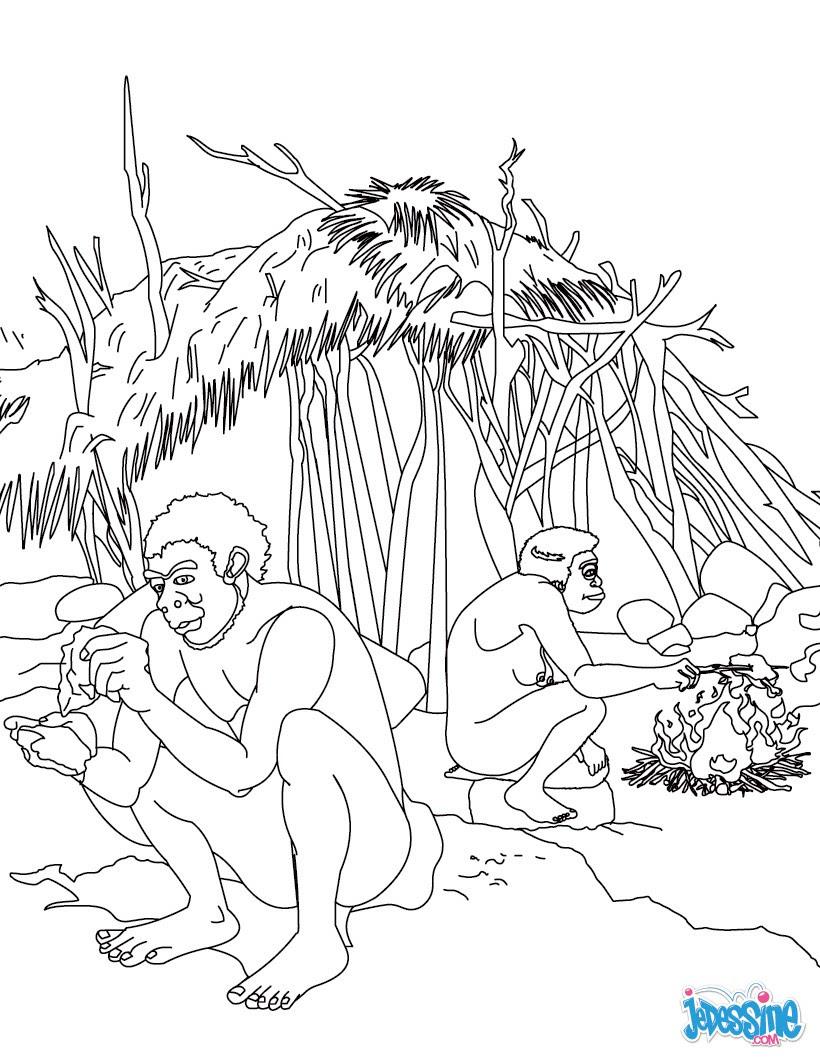 Luxe Coloriage Homme Prehistorique A Imprimer | Haut ...