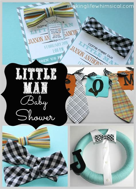 meet   man baby shower invite includes