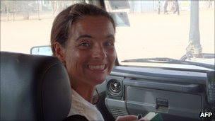 Photo handout of MSF Spanish aid worker Montserrat Serra on 14 October 2011