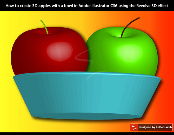 How To Create 3d Apples With A Bowl In Adobe Illustrator Cs6 Using