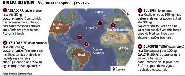 Mapa do atum