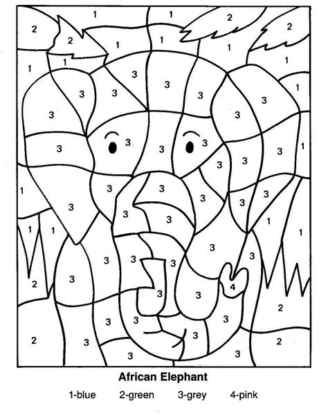 coloring pages  african animals african elephant color