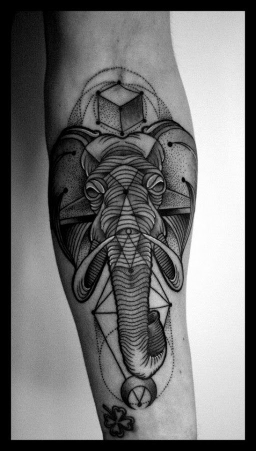 Graphic Elephant Tattoomagz