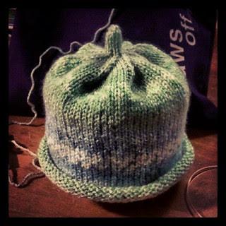 Twin Baby Boy Hat #1 done... #knitting #handmade #baby #hat #knitstagram #knit #love