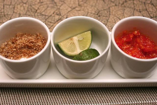 Condiments that jazz up the Soto Ayam Lamonggan