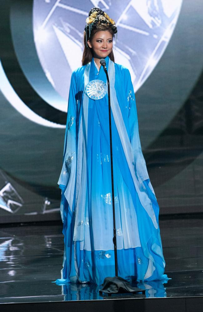 Seoyeon Kim, Miss Korea 2015 debuts her National Costume on stage at the 2015 Miss Universe Pagaent on December 16, 2015 in Las Vegas. Picture: HO/The Miss Universe Organization