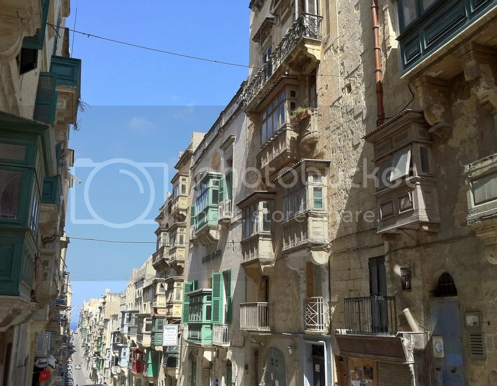 Balconies and Streets of Valletta, Malta.  Travel Blogger.