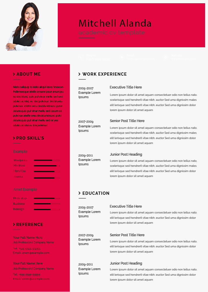 10+ Academic CV example psd design | Template Business PSD, Excel, Word, PDF