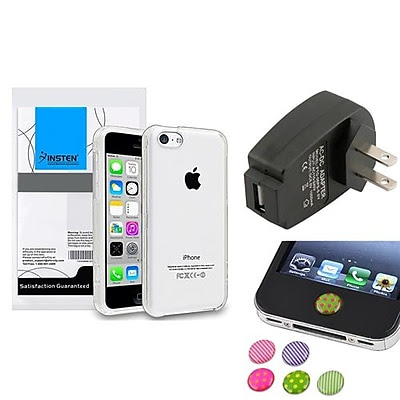 BUY Insten 1390320 3-Piece iPhone Case Bundle For Apple iPhone 5C, Apple iPhone/iPad/iPod Touch OFFER