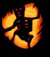 Skeleton Jack-O-Lantern