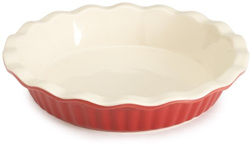 Good Cook 9 Inch Ceramic Pie Plate, Red