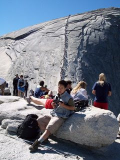 Half Dome Cable behind