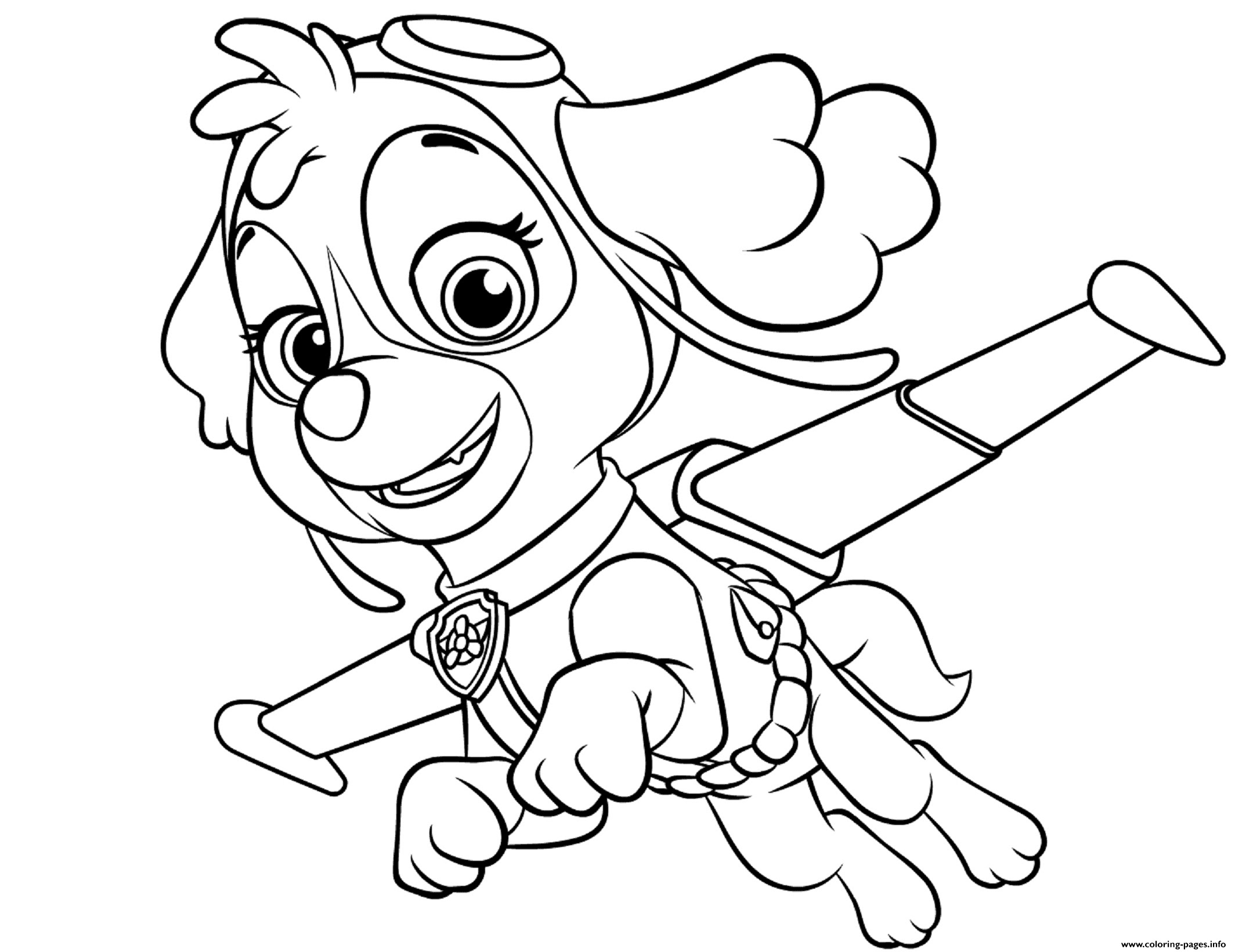 Paw Patrol Bilder Ausmalen Sky Coloring Pages For Kids