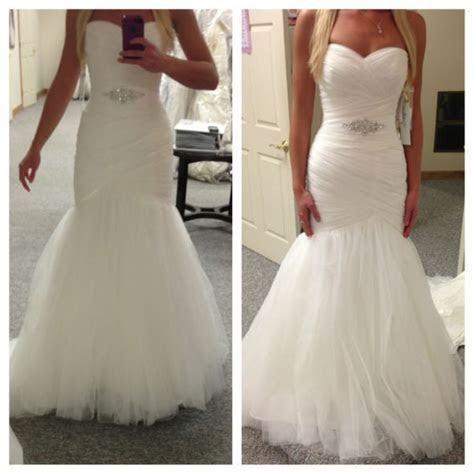 Asymmetrically Draped Net Morilee Bridal Wedding Dress in