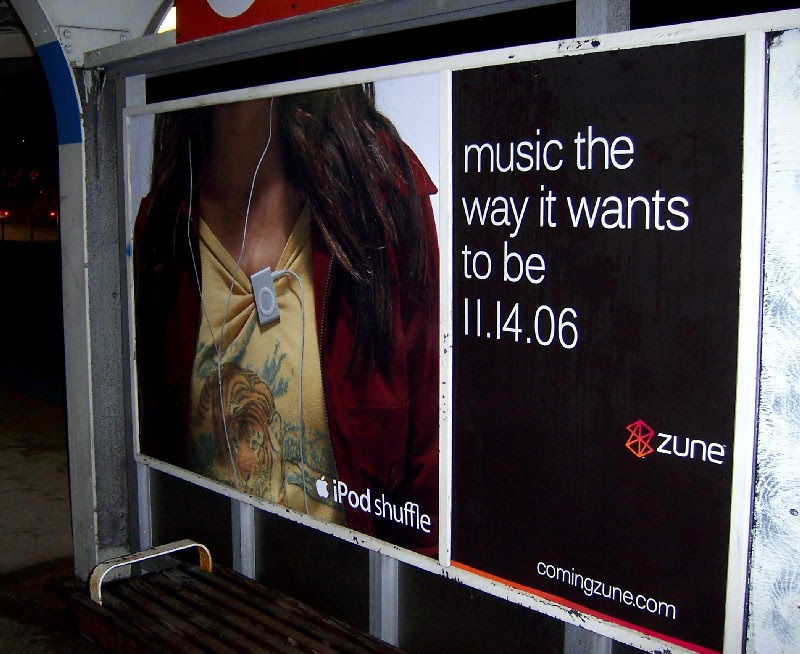 iPod and Zune posters