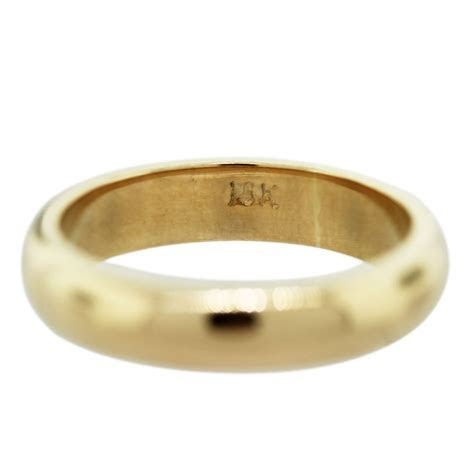 18k Yellow Gold Men's Wedding Band Ring   Raymond Lee Jewelers