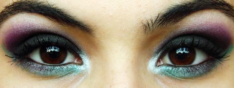 Juliana Leite make up maquiagem roxa preta verde degrade concavo 015
