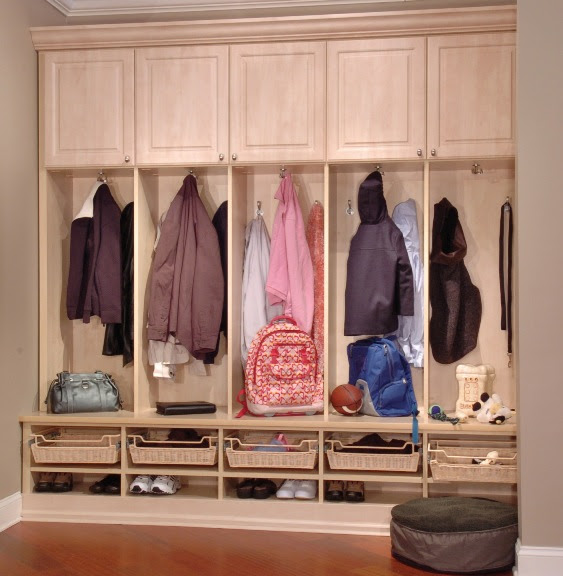 Mudroom Organization - Bazaar Home Decorating | Milwaukee Blinds ...