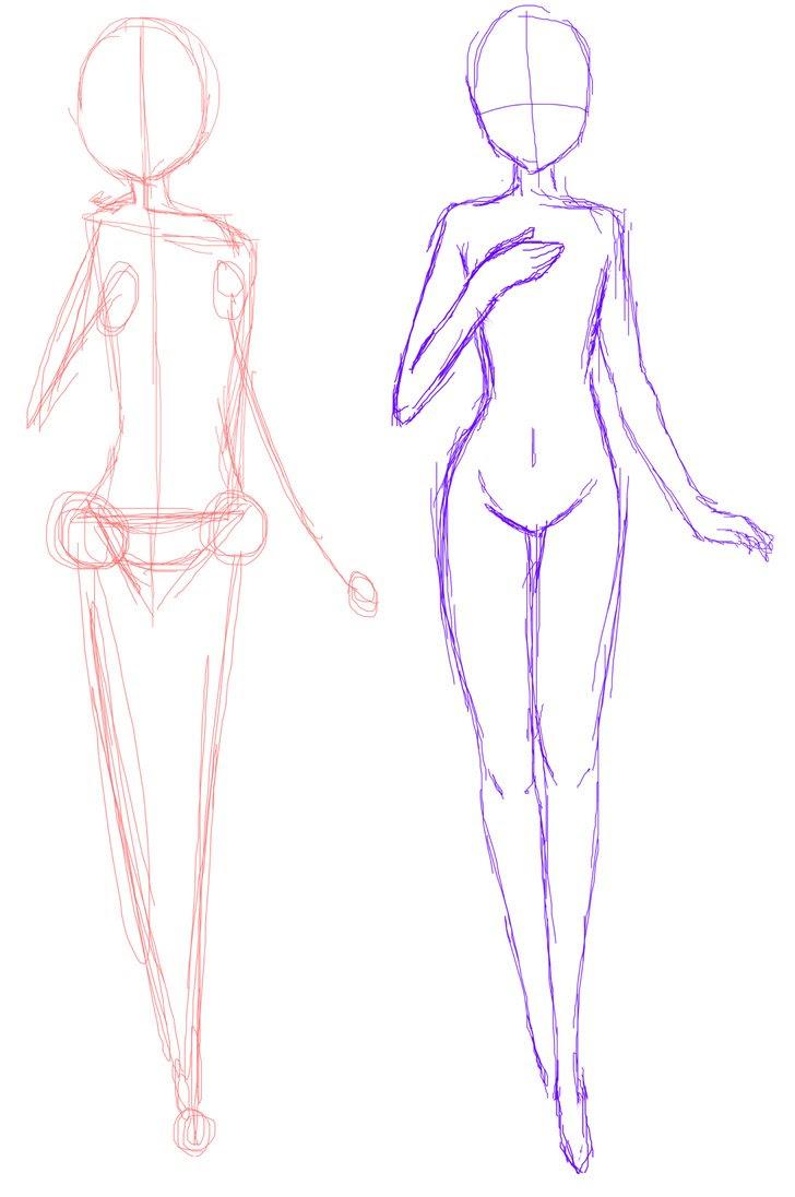 Anime Girl Drawing Base Pose - Anime Wallpapers