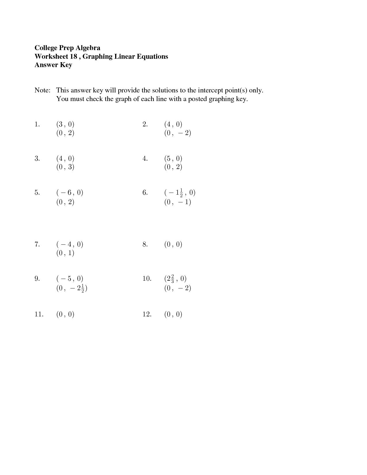 16 Best Images of College Math Worksheets  College Algebra Worksheets Printable, College