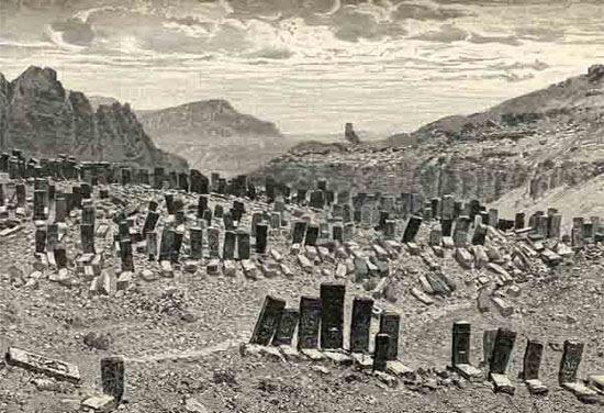 Julfa, örmény temető, B. Cantre fotója, 1893