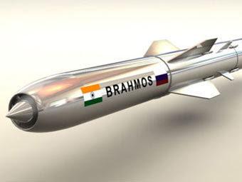 """Ракета """"БраМос"""". Иллюстрация с сайта brahmos.com"""