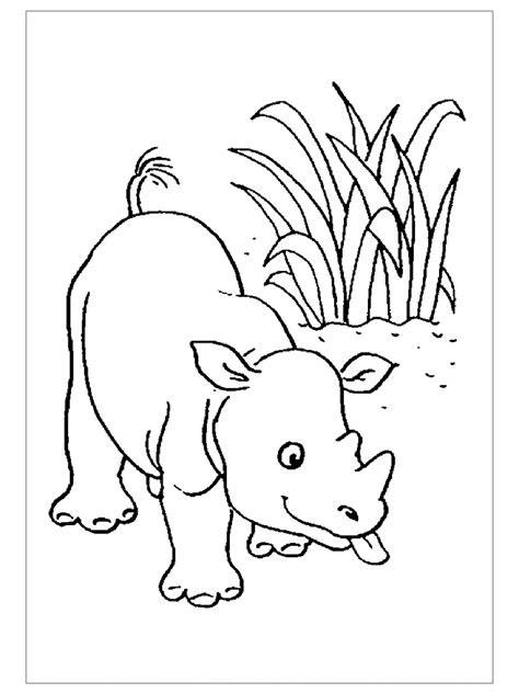 rhino coloring pages  child preschool  kindergarten