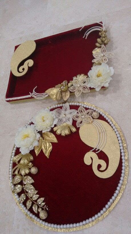 Vrishti Creations  Designer trays platters 9669207565