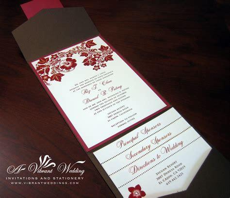 red and orange wedding invitation ? A Vibrant Wedding