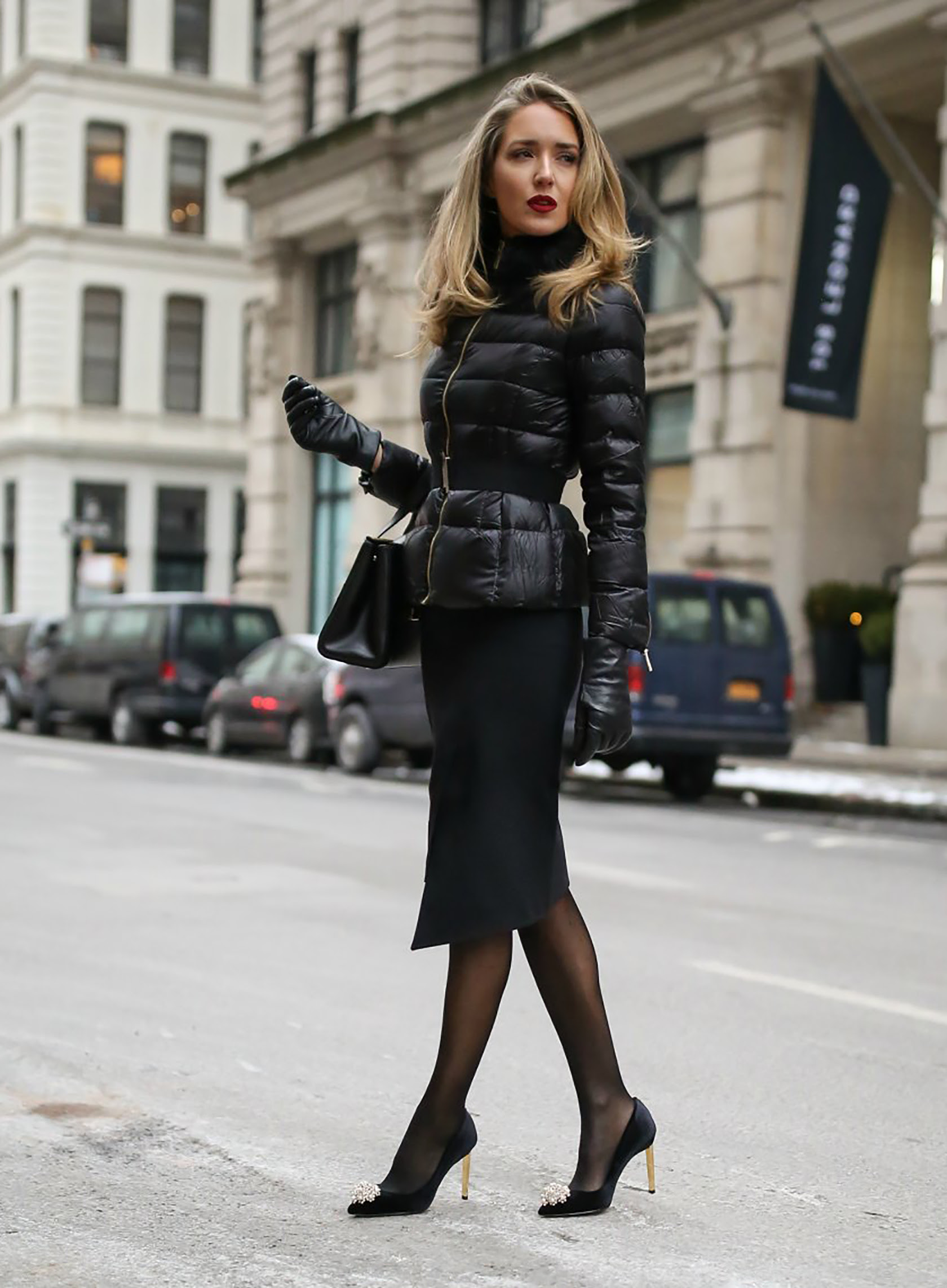 six black winter outfit ideas  2018 fashion trends