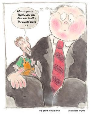 Political cartoon image by Donald Wilson
