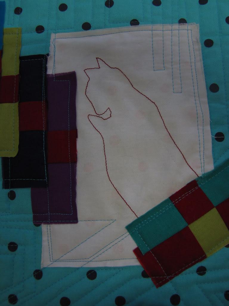 Stairway to Cat Heaven - journal quilt