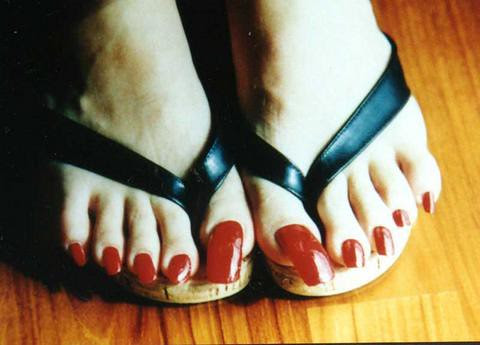 long and square pedicure