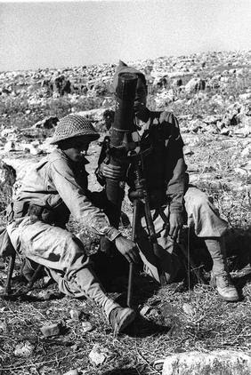 Safsaf-صفصاف: Zionist gangs monitoring\shelling by mortars Safsaf village just before the massacre(Oct 28 1948)