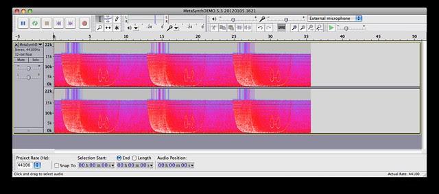 voyager metasynth spectrogram