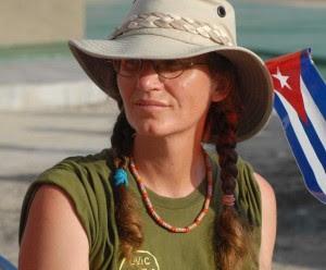 """Tribuna Abierta del XX Contingente de la Amistad EE.UU.- Cuba y de la XL Brigada Venceremos, el 31 de Julio de 2009, en el """"Monte de las Banderas"""" de la Tribuna Antiimperialista AIN FOTO/Oriol de la Cruz ATENCIO."""