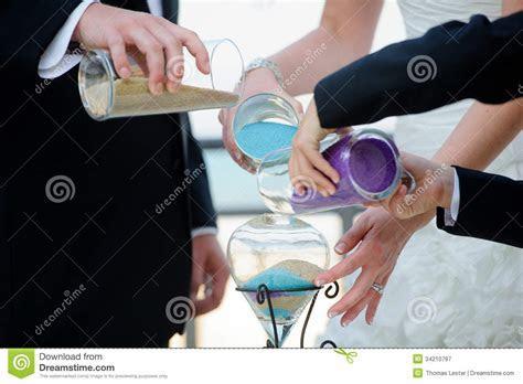 Wedding Ceremony With Unity Sand Royalty Free Stock
