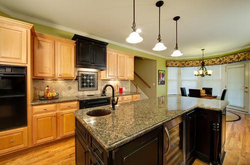 Brown Granite Countertop Travertine Backsplash Ideas