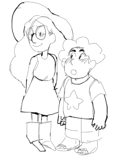 i can't believe that i have never drawn a pic of steven, connie or stevonnie before…