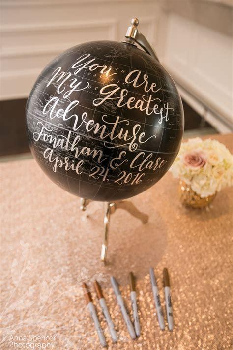 "Guest signature ""book"" globe   St. Regis Atlanta Weddings"