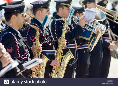 Brass Band Marching Stock Photos & Brass Band Marching