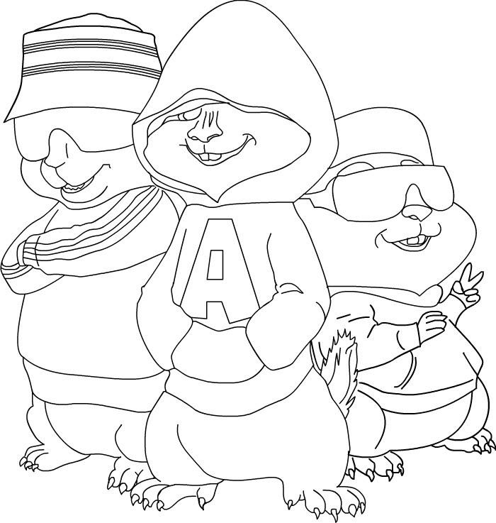Coloriage Alvin Et Les Chipmunks à Imprimer