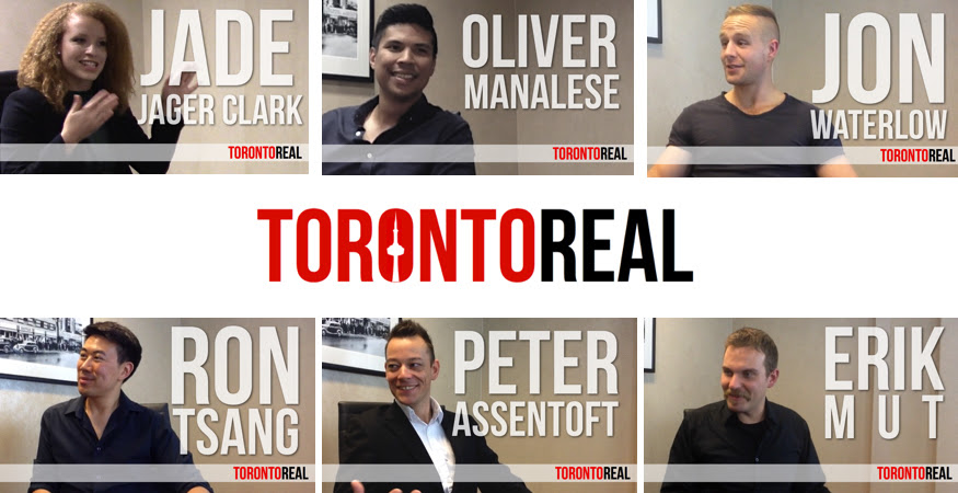 Toronto Real Podcast Guests Jade Jager Clark, Oliver Manalese, Jon Waterlow, Ron Tsang, Peter Assentoft, Erik Mut