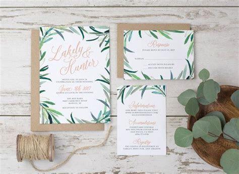 Wedding Invitation Template Printable Eucalyptus by