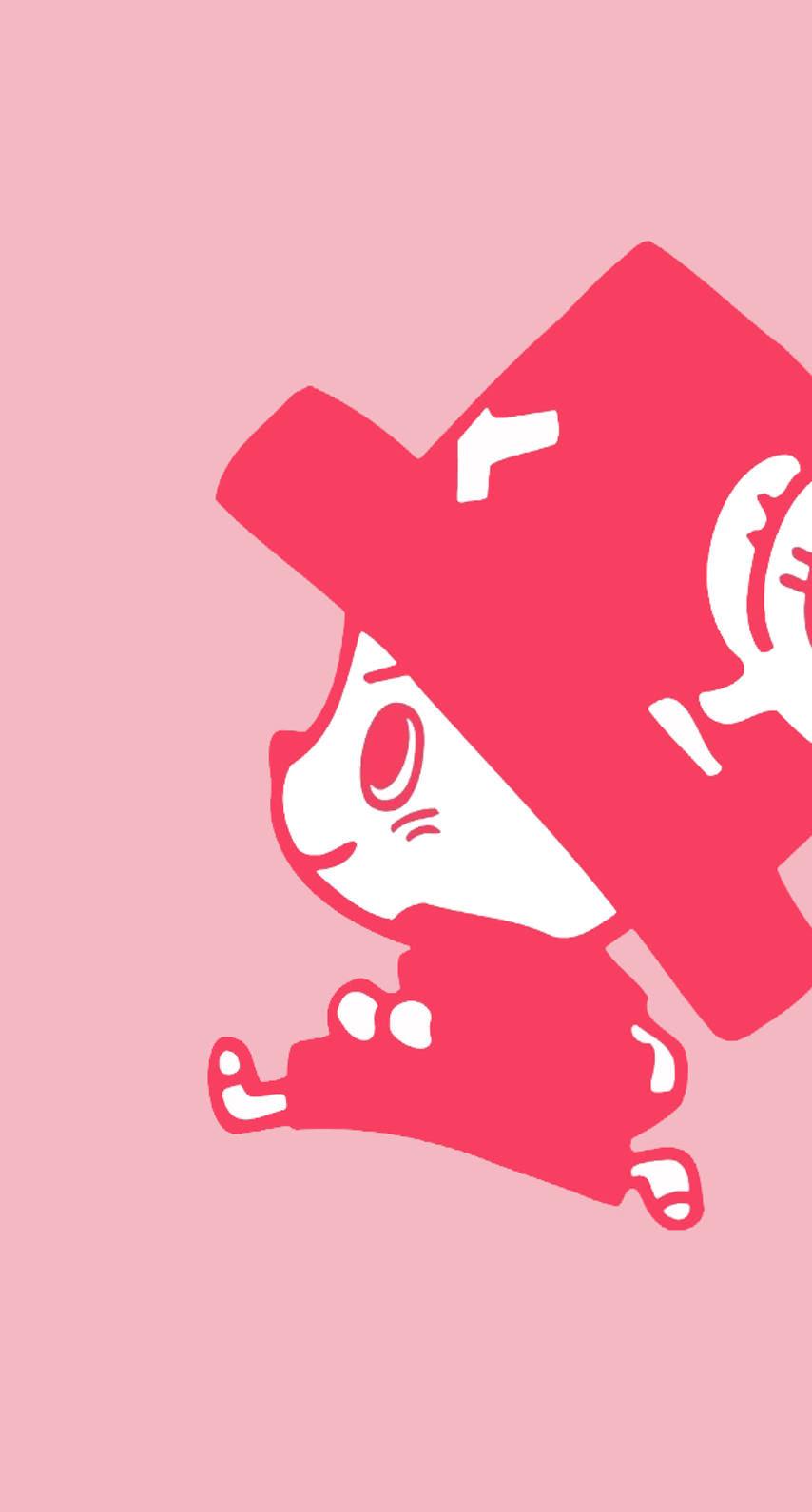 チョッパーピンク めちゃ人気 Iphone壁紙dj