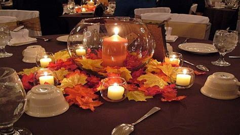 Office reception tables, fall wedding table decoration