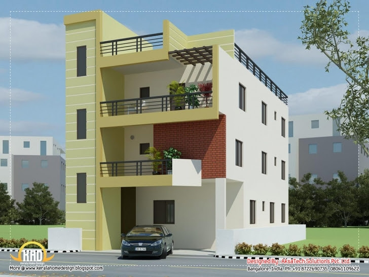 Gorgeous Modern Contemporary Home Elevations Aksatech Solutions