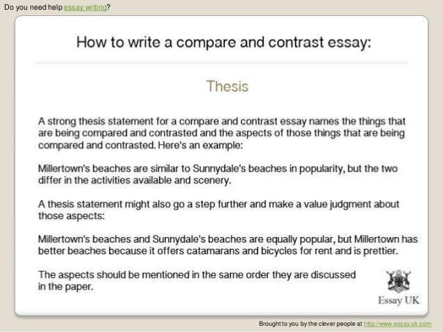 how to write compare and contrast essay about two friends