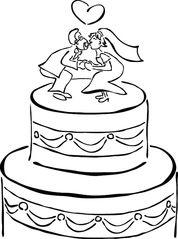 - Coloring And Drawing: Wedding Cake Coloring Pages For Kids