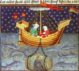 Alejandro Magno explora el mundo submarino